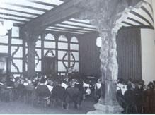 Sattlersche Zuckerfabrik - geprobt wurde in der Orpheushalle